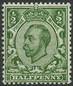 SG338 ½d Deep Green Type II Crown Watermark Unmounted Mint (King George V Downey Head Stamps)